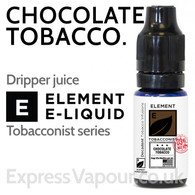 Chocolate Tobacco - ELEMENT 80% VG e-Liquid - 10ml