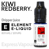 Kiwi Redberry - ELEMENT 80% VG e-Liquid - 10ml