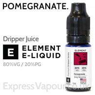 Pomegranate - ELEMENT 80% VG Dripper e-Liquid - 10ml