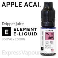 Apple Acai - ELEMENT 80% VG Dripper e-Liquid - 10ml