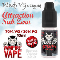 Attraction Sub Zero - VLADS VG - 70% VG - 10ml