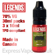 Anger Management - LEGENDS e-liquid - 70% VG - 30ml