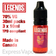 Ego Maniac - LEGENDS e-liquid - 70% VG - 30ml
