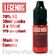 Mouthpiece - LEGENDS e-liquid - 70% VG - 30ml