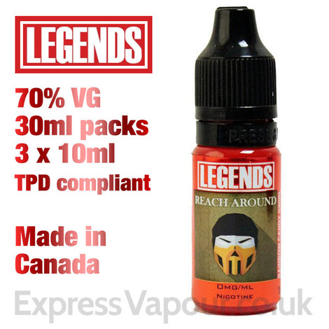Reach Around - LEGENDS e-liquid - 70% VG - 30ml