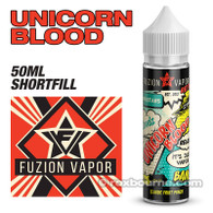 UNICORN BLOOD - Fuzion Vapor e-liquids 65% VG 50ml