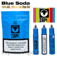 Blue Soda by ZAP Juice e-liquid 70% VG 30m