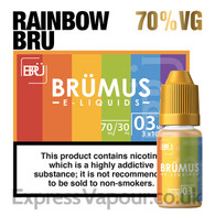 Rainbow Bru - BRUMUS e-liquid - 70% - 30ml