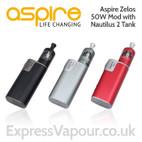 e-cig kit - Aspire ZELOS 50w battery with Nautilus 2 Tank
