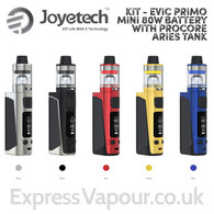 Vaping kit - Joyetech eVic Primo Mini 80w Battery with ProCore Aries Tank