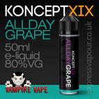 Allday Grape - Koncept XIX e-liquid - 80% VG - 50ml