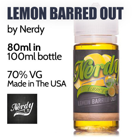 Lemon Barred Out - by Nerdy eJuice - 70% VG - 80ml