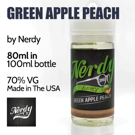 Green Apple Peach - by Nerdy eJuice - 70% VG - 80m