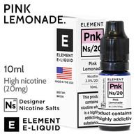 Pink Lemonade - ELEMENT NS20 high nicotine e-liquid - 10ml