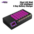 Efest LUC Blu6 LCD Intelligent 6 Bay Battery Charger