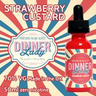 Strawberry Custard - Dinner Lady e-liquids - 70% VG - 50ml