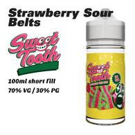 Strawberry Sour Belts - Sweet Tooth e-liquids - 100ml