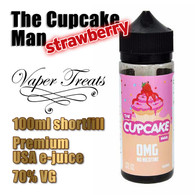 The Strawberry Cupcake Man - Vaper Treats e-liquid by Ruthless - 70% VG - 100ml