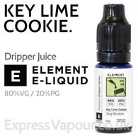Key Lime Cookie - ELEMENT 80% VG Dripper e-Liquid - 10ml