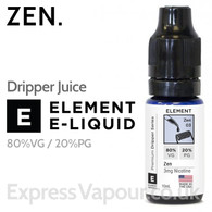 Zen - ELEMENT 80% VG Dripper e-Liquid - 10ml