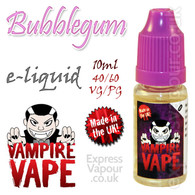 Bubblegum - Vampire Vape 40% VG e-Liquid - 10ml