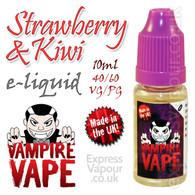Strawberry and Kiwi - Vampire Vape 40% VG e-Liquid - 10ml