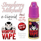 Strawberry Milkshake - Vampire Vape 40% VG e-Liquid - 10ml