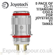 5 Pack of CL-Ti 0.4ohms Titanium Atomisers for Joyetech VT Tanks
