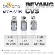 5 Pack - Beyang CVS Atomisers - Bottom Turbine Duel Coil BTDC and BTC
