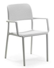 Nardi Bora (with arms) Deck Chair - White