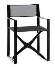 La Regista Luxury Italian Deck Chair - Black