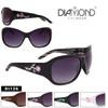 Rhinestone Flower Temple Fashion Sunglasses - Style #DI126