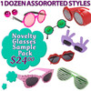 Novelty Glasses Sample Pack NSP1 (12 pcs.) Fun Mix of Popular Novelty Glasses (Assorted Colors)