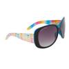 Women's Fashion Sunglasses DE81 Rainbow Patterned w/Blue Interior Frame