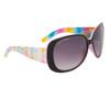 Women's Fashion Sunglasses DE81 Rainbow Patterned w/Pink Interior Frame