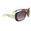 Women's Fashion Sunglasses DE81 Rainbow Patterned w/Yellow Interior Frame