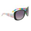 Women's Fashion Sunglasses DE81 Rainbow Patterned w/Green Interior Frame