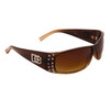 DE47 Wholesale Fashion Sunglasses Brown Duotone Frame Color