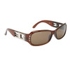 DE76 Designer Eyewear™ Sunglasses Transparent Brown Frame