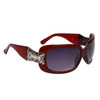 Diamond Eyewear™ Rhinestone Sunglasses DE109 Transparent Maroon Frame