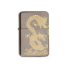 Dark Metallic Silver With Chinese Dragon Etching K035