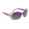 Rhinestone Sunglasses Wholesale 6055 Lavender Frame Color