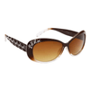 Diamond™ Eyewear Wholesale Sunglasses DI140 Brown & White Frame