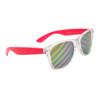 Bulk California Classics Sunglasses - Style # 32317 - Novelty Striped Lens Pink/Clear
