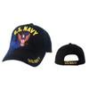 "Wholesale Military Caps C1019 (1 pc.) ""U.S. Navy"" Navy Blue"