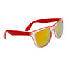 California Classics Sunglasses 8029 Red with Gold Flash Mirror Lens