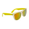 California Classics Sunglasses 8029 Yellow with Gold Flash Mirror Lens