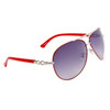 Wholesale Women's Aviator Sunglasses Red