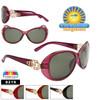 Wholesale Women's Polarized Fashion Sunglasses - 8219 (Assorted Colors) (12 pcs.)