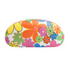 Floral Print Wholesale Sunglass Hard Cases AC4001 White with Pink Interior